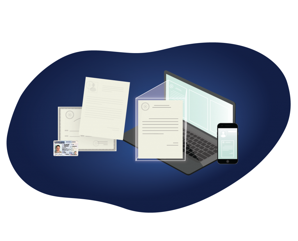 manual to digital process credential solution illustration